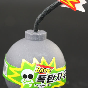 Grey Boom! Eraser Container