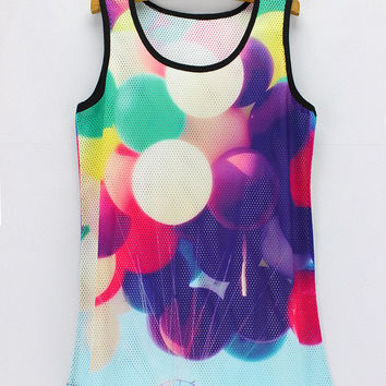 Beach Hot Bralette Sexy Comfortable Summer Stylish Cartoons Print Permeable Tops Hot Sale Vest [6048794049]