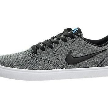 New Nike Mens SB Check Solar Canvas Sneaker Black/White 11