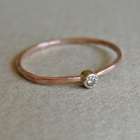 Chocolate Diamond and 14k Rose Gold Ring