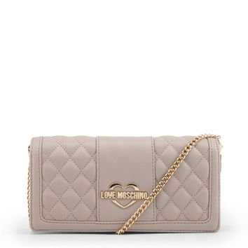 Love Moschino Grey Quilted Wallet