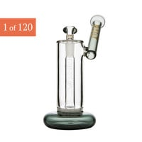 Grav Labs Frit Disc Bubbler With Smoke Accents by Grav Gold