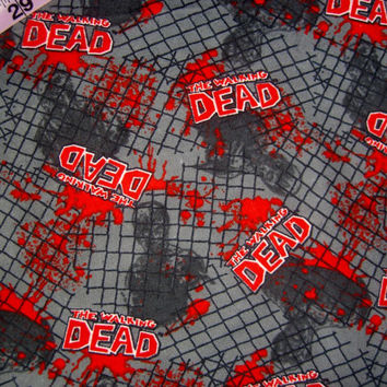 The Walking Dead flannel fabric zombies  walkers quilt cotton quilting sewing material to craft by the yard