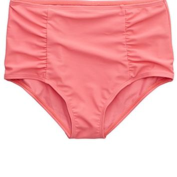 Aerie Women's Hi-rise Ruched Bikini Bottom (Camilia Rose)