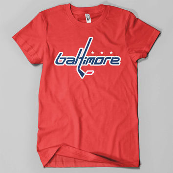 Baltimore Hockey Tee | Washington Capitals | Capitals Hockey | Washington Caps | Hockey Fan Shirt | Hockey Tee | Mens Hockey Shirt