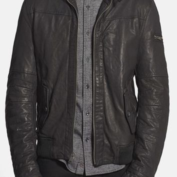 Men's Rogue 'Mustang' Black Leather Moto Jacket,