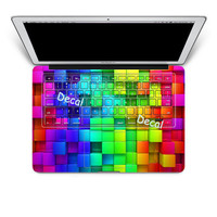 Rainbow - keyboard decal for macbook/ macbook keyboard cover/ macbook decal/ Laptop keyboard cover Decal