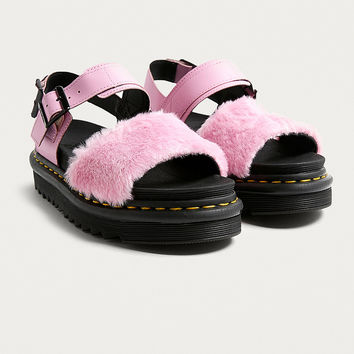 Dr. Martens Voss Pink Fluffy Sandals | Urban Outfitters