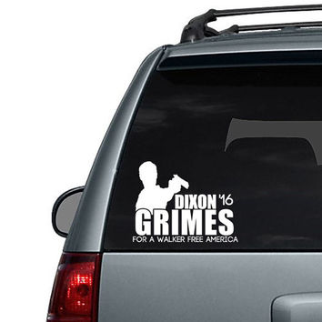 Dixon Grimes Election Decal for a Walker Free America - Car Decal Sticker