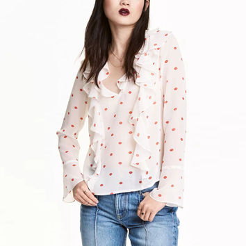 Fashion T-Shirt Long Sleeve Causal Slim Tee Brand Cute Women Tops