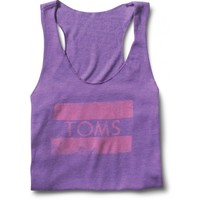 Women's Purple Racerback Stamp Tank