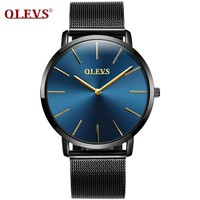 Luxury brand Sport watches for men Stainless steel mesh Men's watches waterproof clock Watchband genuine leather Wrist watches