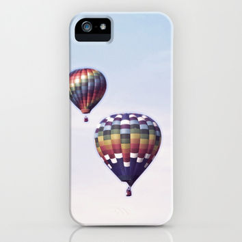 Two Hot Air Balloons iPhone & iPod Case by Brooke Ryan Photography