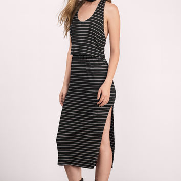 Shoreline Striped Racer Maxi Dress
