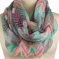 NEON CHEVRON ETERNITY SCARF