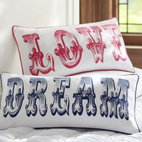 Dream + Love Pillow Covers