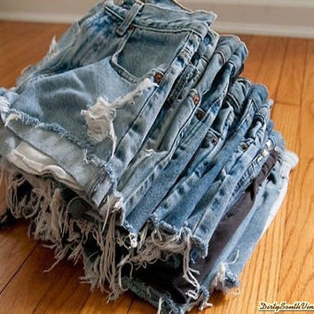 DISTRESSED High Waisted Shorts / Sexy Denim Shorts For Summer: All Sizes