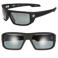 Men's SPY Optic 'McCoy' 63mm Polarized Sunglasses - Soft Matte Black/ Grey Green