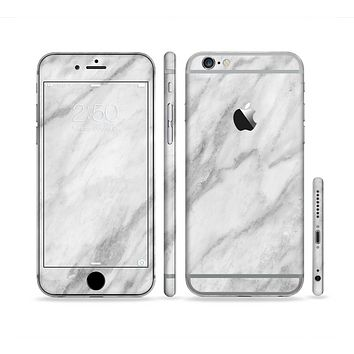 The White Marble Surface Sectioned Skin Series for the Apple iPhone 6
