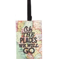 canvas luggage tag