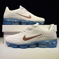 NIKE AIR VAPORMAX FLYKIT Fashion Flats Sport Shoes Running Sneakers White G-CSXY
