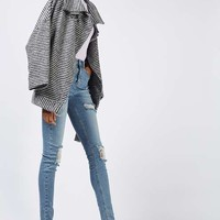 '80s Funnel Neck Houndstooth Coat - Sale - SALE & OFFERS