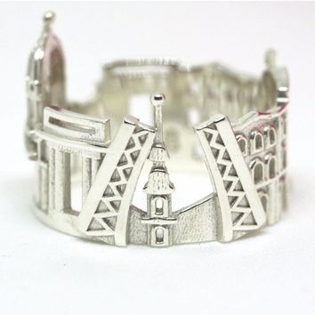 Saint Petersburg Cityscape Statement Ring
