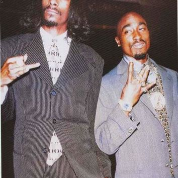 ONETOW Snoop Dogg and Tupac Shakur Poster 24x36 Day-First?