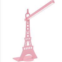 Desk  Rotatable table LED  Lamp USB  charging  touch lamp  Paris tower Pink