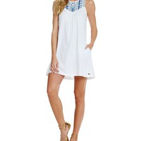 Roxy Eastshore Embroidered-Yoke Dress | Dillards