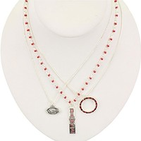 Georgia Trio Necklace Set | Georgia Bulldogs Necklaces | UGA Necklaces