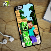 Minecraft Steve Creeper iPhone 6S Case by Avallen
