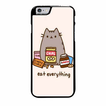 pusheen the cat eat everything case for iphone 6 plus 6s plus