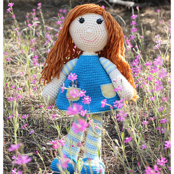 PATTERN: Alice amigurumi crochet doll pattern