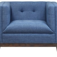 REDLEY BLUE LINEN CHAIR