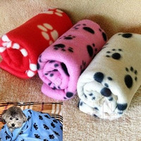 New Comfort Cute Pet Dog Cat Puppy Paw Prints Couture Cloak Blanket Mat Sheet [7688992198]