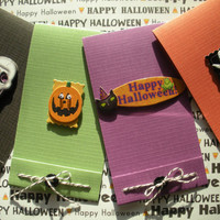 Halloween Matchbook Style Cards In Green by BeMyBee