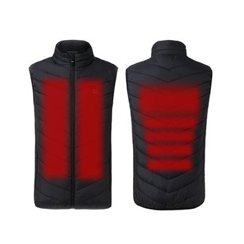 New Arrived Man Heated Jacket Electric Heated Vest Waistcoat Woman Coat Feather Thermal Softshell Jacket Winter Heating Clothes