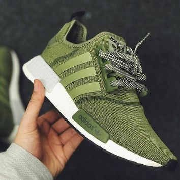 ADIDAS NMD Fashion Trending Women&Man Leisure Running Sports Sneakers Shoes Olive green