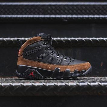 PEAPO2N Nike Air Jordan 9 NRG Boot - Black / Olive