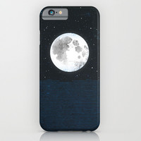 Blue Moonscape iPhone & iPod Case by Amelia Senville