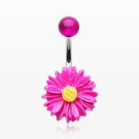 Adorable Daisy Belly Button Ring
