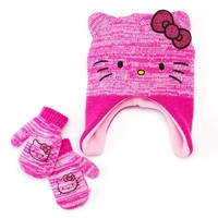 Hello Kitty Hat & Mittens Set - Toddler Girl, Size: 2T-4T (Pink)
