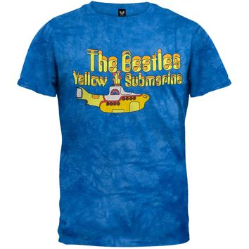 Beatles - Yellow Sub Tie Dye T-Shirt - X-Large