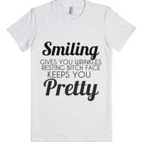 smiling gives you wrinkles resting bitch face keeps you