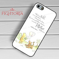Winnie The Pooh Quotes  - Zd for  iPhone 4/4S/5/5S/5C/6/6+s,Samsung S3/S4/S5/S6 Regular/S6 Edge,Samsung Note 3/4