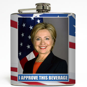 I Approve This Beverage - Hillary Flask