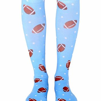 Football Star Knee High Socks