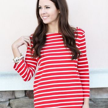 Mrs. Scalloped Top - Red
