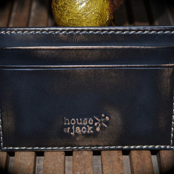 Leather Card Case - Men's Wallet - Slim Pocket Jack